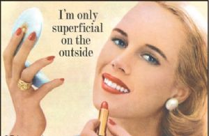 I'm Only Superficial On The Outside funny fridge magnet (ep ls)